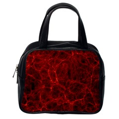 Simulation Red Water Waves Light Classic Handbags (one Side) by Mariart