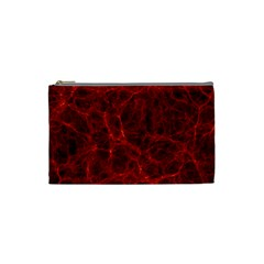 Simulation Red Water Waves Light Cosmetic Bag (small)  by Mariart