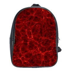 Simulation Red Water Waves Light School Bag (large)