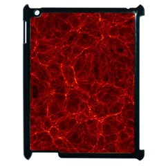 Simulation Red Water Waves Light Apple Ipad 2 Case (black) by Mariart