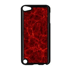 Simulation Red Water Waves Light Apple Ipod Touch 5 Case (black) by Mariart