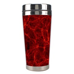 Simulation Red Water Waves Light Stainless Steel Travel Tumblers by Mariart
