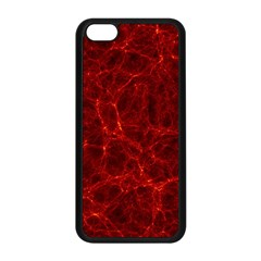 Simulation Red Water Waves Light Apple Iphone 5c Seamless Case (black) by Mariart