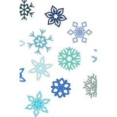 Snowflakes Blue Green Star 5 5  X 8 5  Notebooks by Mariart