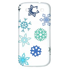Snowflakes Blue Green Star Samsung Galaxy S3 S Iii Classic Hardshell Back Case by Mariart