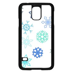 Snowflakes Blue Green Star Samsung Galaxy S5 Case (black) by Mariart