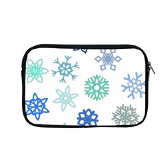 Snowflakes Blue Green Star Apple Macbook Pro 13  Zipper Case by Mariart