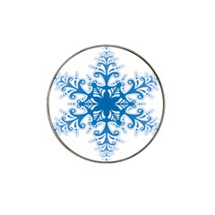 Snowflakes Blue Flower Hat Clip Ball Marker (10 Pack) by Mariart