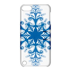 Snowflakes Blue Flower Apple Ipod Touch 5 Hardshell Case With Stand by Mariart