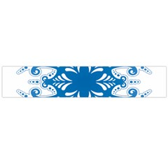 Snowflakes Blue Flower Flano Scarf (large) by Mariart