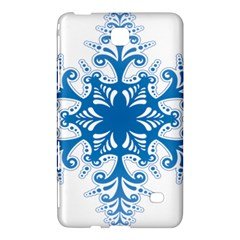 Snowflakes Blue Flower Samsung Galaxy Tab 4 (8 ) Hardshell Case  by Mariart