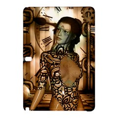Steampunk, Steampunk Women With Clocks And Gears Samsung Galaxy Tab Pro 10 1 Hardshell Case by FantasyWorld7