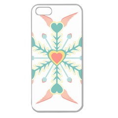 Snowflakes Heart Love Valentine Angle Pink Blue Sexy Apple Seamless Iphone 5 Case (clear) by Mariart
