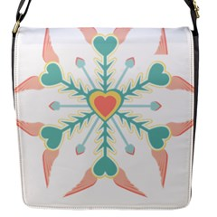 Snowflakes Heart Love Valentine Angle Pink Blue Sexy Flap Messenger Bag (s) by Mariart