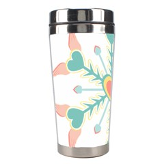 Snowflakes Heart Love Valentine Angle Pink Blue Sexy Stainless Steel Travel Tumblers by Mariart