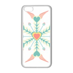 Snowflakes Heart Love Valentine Angle Pink Blue Sexy Apple Iphone 5c Seamless Case (white) by Mariart
