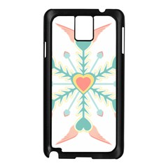 Snowflakes Heart Love Valentine Angle Pink Blue Sexy Samsung Galaxy Note 3 N9005 Case (black) by Mariart