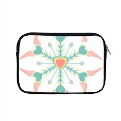 Snowflakes Heart Love Valentine Angle Pink Blue Sexy Apple Macbook Pro 15  Zipper Case by Mariart