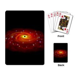 Space Galaxy Black Sun Playing Card by Mariart
