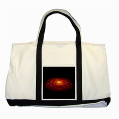 Space Galaxy Black Sun Two Tone Tote Bag by Mariart