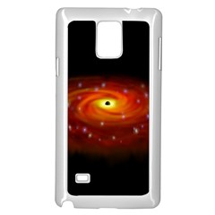 Space Galaxy Black Sun Samsung Galaxy Note 4 Case (white) by Mariart