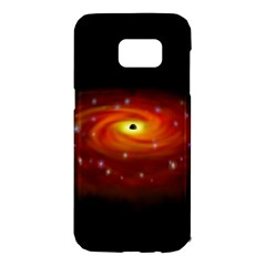 Space Galaxy Black Sun Samsung Galaxy S7 Edge Hardshell Case by Mariart