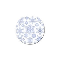 Snowflakes Blue White Cool Golf Ball Marker (10 Pack) by Mariart