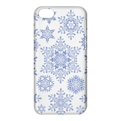 Snowflakes Blue White Cool Apple Iphone 5c Hardshell Case by Mariart