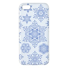 Snowflakes Blue White Cool Iphone 5s/ Se Premium Hardshell Case