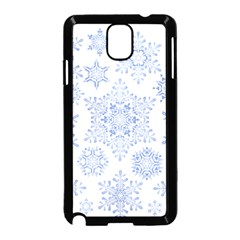 Snowflakes Blue White Cool Samsung Galaxy Note 3 Neo Hardshell Case (black) by Mariart