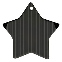 Space Line Grey Black Star Ornament (two Sides)