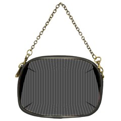 Space Line Grey Black Chain Purses (two Sides)