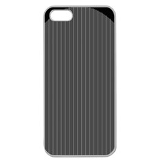 Space Line Grey Black Apple Seamless Iphone 5 Case (clear)