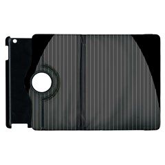 Space Line Grey Black Apple Ipad 3/4 Flip 360 Case