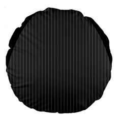 Space Line Grey Black Large 18  Premium Round Cushions by Mariart