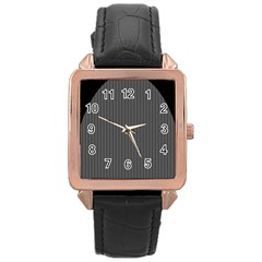 Space Line Grey Black Rose Gold Leather Watch