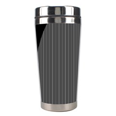 Space Line Grey Black Stainless Steel Travel Tumblers by Mariart