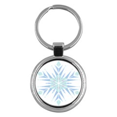 Snowflakes Star Blue Triangle Key Chains (round)  by Mariart