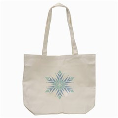 Snowflakes Star Blue Triangle Tote Bag (cream) by Mariart