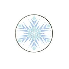 Snowflakes Star Blue Triangle Hat Clip Ball Marker by Mariart