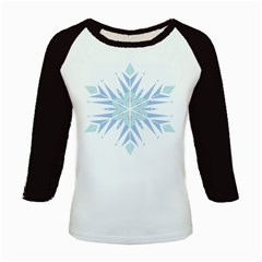 Snowflakes Star Blue Triangle Kids Baseball Jerseys by Mariart