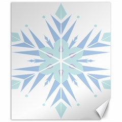 Snowflakes Star Blue Triangle Canvas 20  X 24