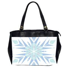 Snowflakes Star Blue Triangle Office Handbags (2 Sides)  by Mariart