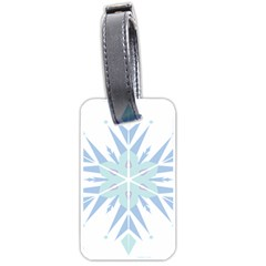 Snowflakes Star Blue Triangle Luggage Tags (one Side)  by Mariart