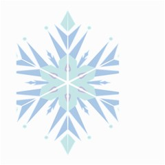 Snowflakes Star Blue Triangle Small Garden Flag (two Sides) by Mariart