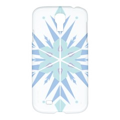Snowflakes Star Blue Triangle Samsung Galaxy S4 I9500/i9505 Hardshell Case by Mariart