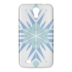 Snowflakes Star Blue Triangle Samsung Galaxy Mega 6 3  I9200 Hardshell Case by Mariart