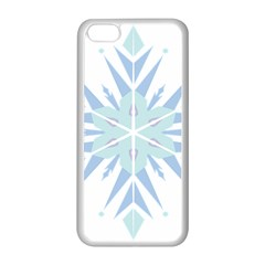 Snowflakes Star Blue Triangle Apple Iphone 5c Seamless Case (white) by Mariart