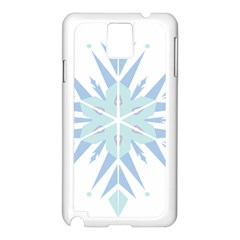 Snowflakes Star Blue Triangle Samsung Galaxy Note 3 N9005 Case (white) by Mariart