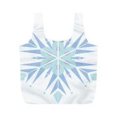Snowflakes Star Blue Triangle Full Print Recycle Bags (m)  by Mariart